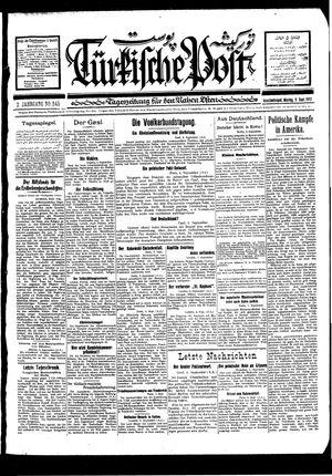 Türkische Post vom 05.09.1927