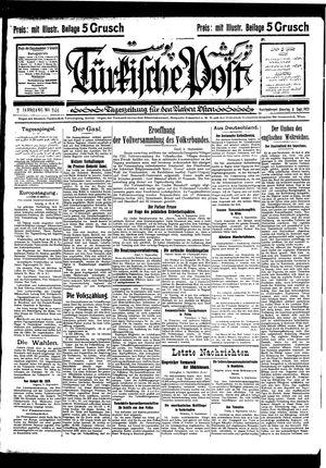 Türkische Post vom 06.09.1927