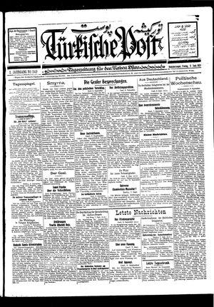 Türkische Post vom 09.09.1927