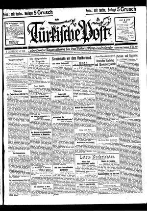 Türkische Post vom 10.09.1927
