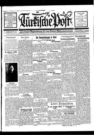 Türkische Post vom 12.09.1927