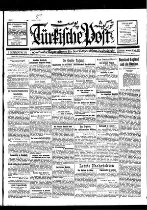 Türkische Post vom 14.09.1927