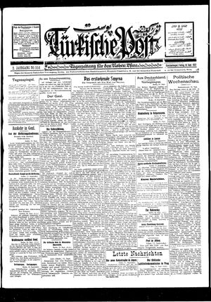 Türkische Post vom 16.09.1927