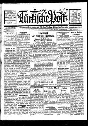 Türkische Post vom 19.09.1927