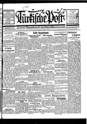 Türkische Post vom 20.09.1927