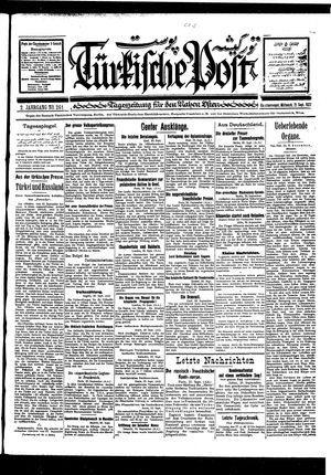 Türkische Post vom 21.09.1927