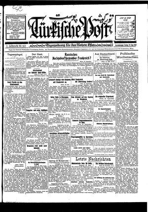 Türkische Post vom 23.09.1927