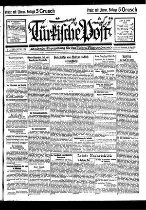 Türkische Post vom 24.09.1927