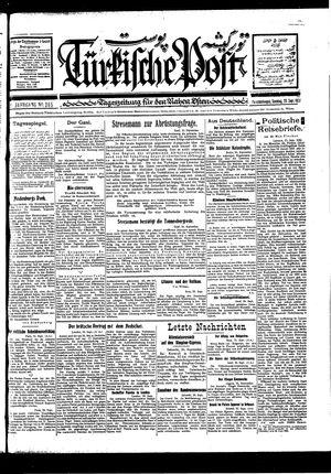 Türkische Post vom 25.09.1927
