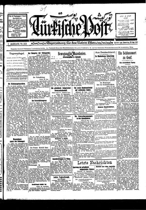 Türkische Post vom 29.09.1927
