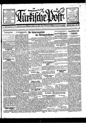 Türkische Post vom 03.10.1927