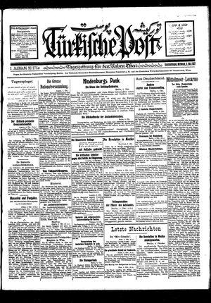 Türkische Post vom 05.10.1927