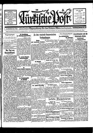 Türkische Post vom 06.10.1927
