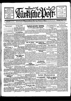 Türkische Post vom 07.10.1927