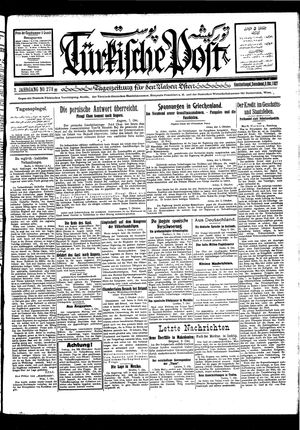 Türkische Post vom 08.10.1927
