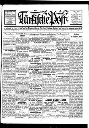 Türkische Post vom 09.10.1927