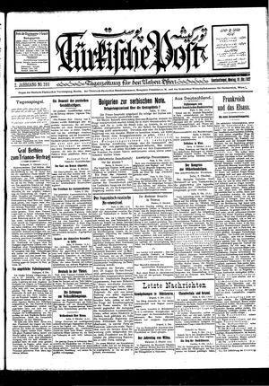 Türkische Post vom 10.10.1927