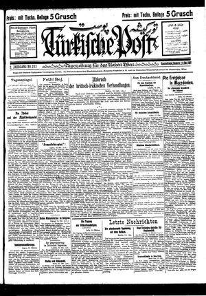 Türkische Post vom 13.10.1927