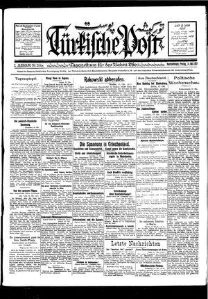 Türkische Post vom 14.10.1927