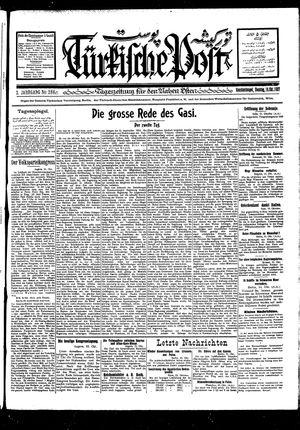 Türkische Post vom 16.10.1927