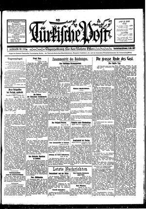 Türkische Post vom 19.10.1927