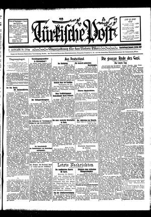 Türkische Post vom 20.10.1927