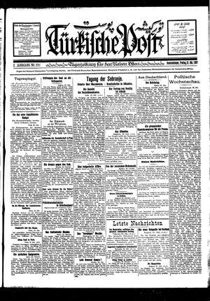 Türkische Post vom 21.10.1927