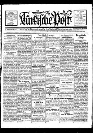 Türkische Post vom 22.10.1927