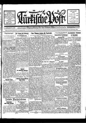 Türkische Post vom 23.10.1927