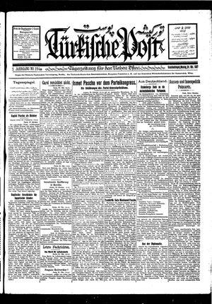Türkische Post vom 24.10.1927