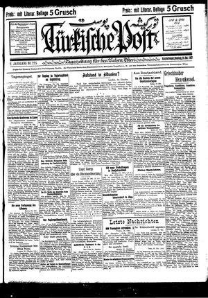 Türkische Post vom 25.10.1927