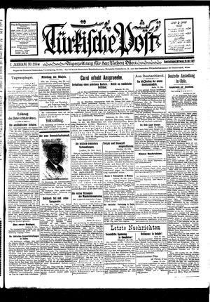 Türkische Post vom 26.10.1927