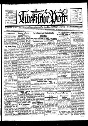 Türkische Post vom 27.10.1927