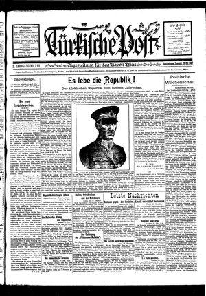 Türkische Post vom 29.10.1927