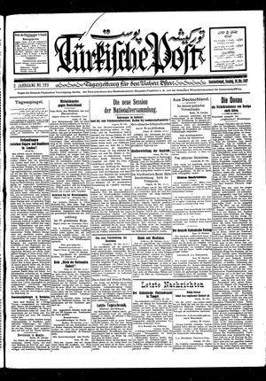 Türkische Post vom 30.10.1927