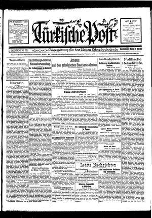 Türkische Post vom 31.10.1927