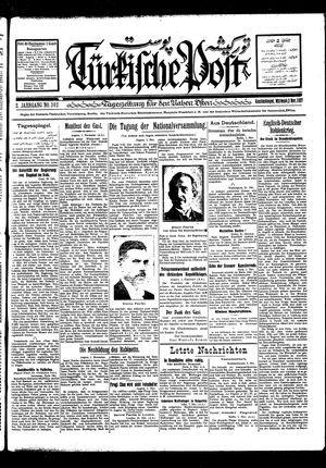 Türkische Post vom 02.11.1927