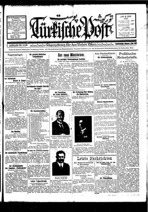 Türkische Post vom 03.11.1927