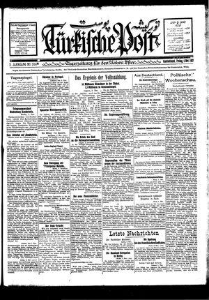 Türkische Post vom 04.11.1927