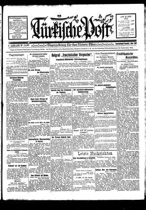 Türkische Post vom 05.11.1927