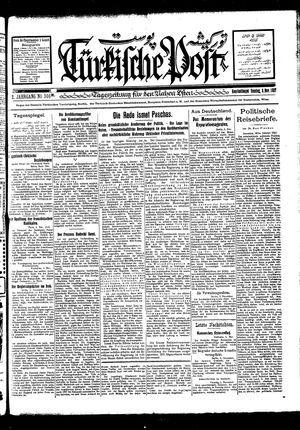 Türkische Post vom 06.11.1927