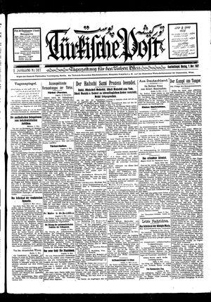 Türkische Post vom 07.11.1927