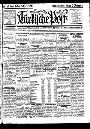 Türkische Post vom 08.11.1927
