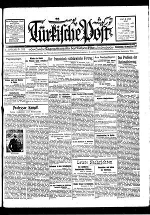Türkische Post vom 09.11.1927