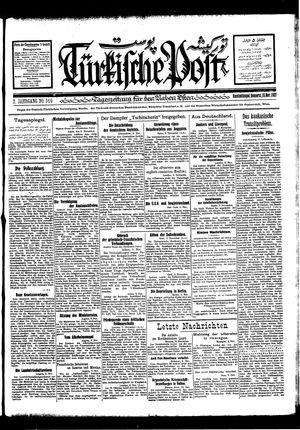 Türkische Post vom 10.11.1927