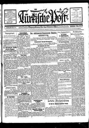 Türkische Post vom 11.11.1927
