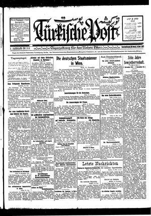 Türkische Post vom 16.11.1927
