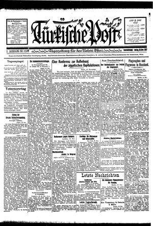 Türkische Post vom 20.11.1927