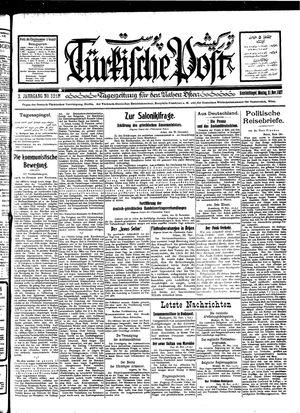 Türkische Post vom 21.11.1927