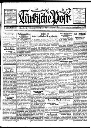 Türkische Post vom 22.11.1927